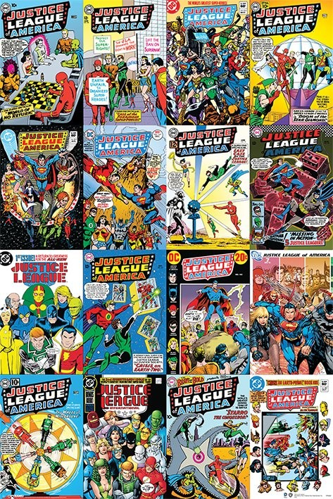 Juliste DC Comics - Justice League Cover Montage