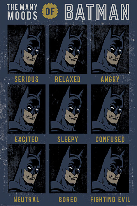 Juliste DC Originals - The Many Moods Of Batman