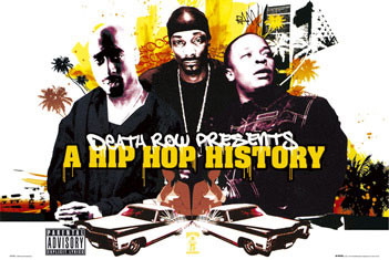 Juliste Death Row - Hip Hop history