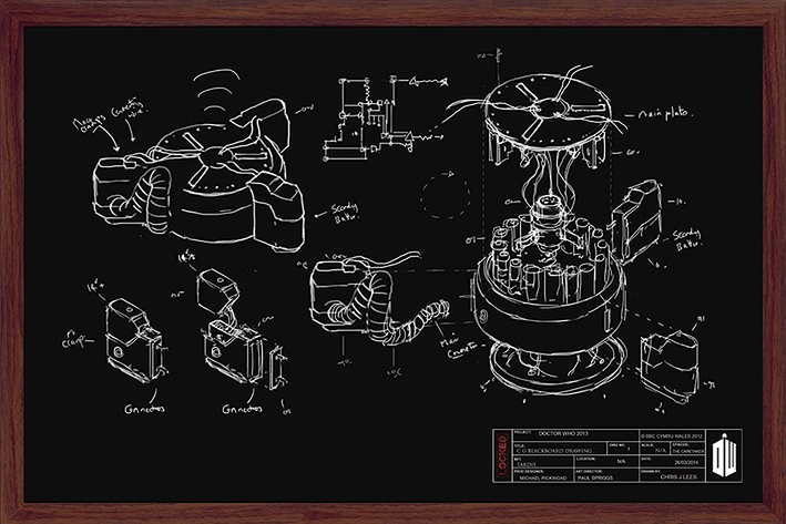 Juliste Doctor Who - Chalk Board