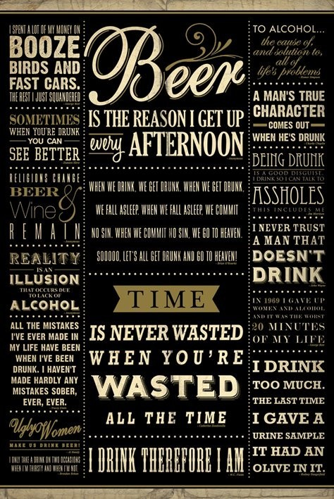 Juliste  Drinkig quotes