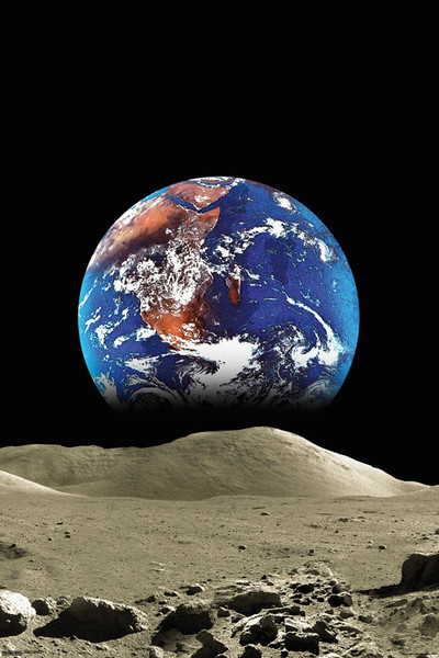 Juliste Earth from the Moon