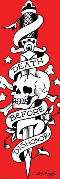 Juliste Ed Hardy - death before dishonor