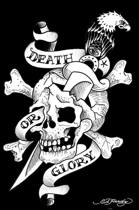 Juliste Ed Hardy - death or glory