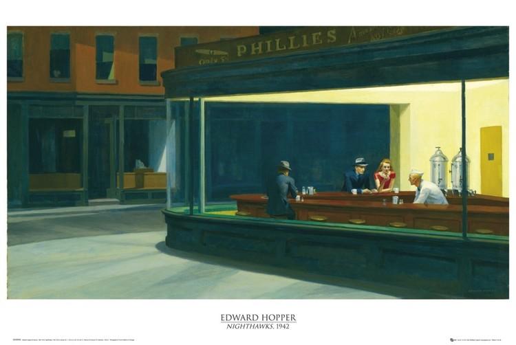 Juliste Edward Hopper - nighthawks