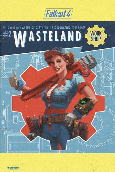 Juliste Fallout 4 - Wasteland