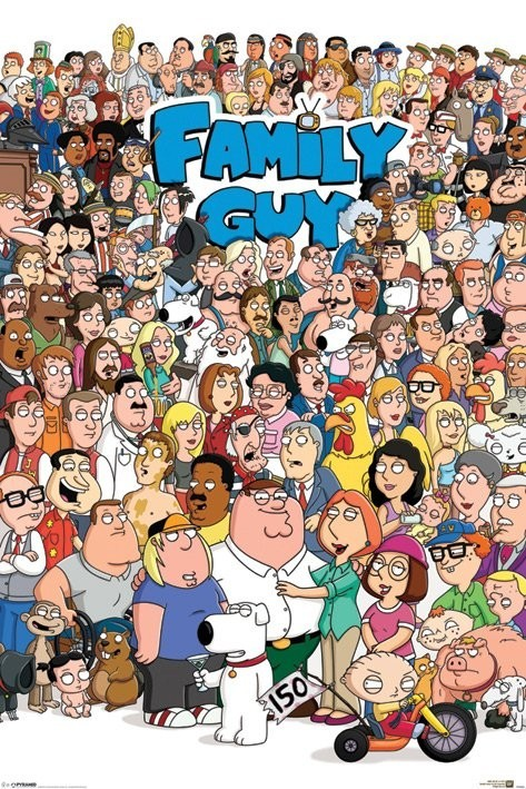 Juliste FAMILY GUY - characters