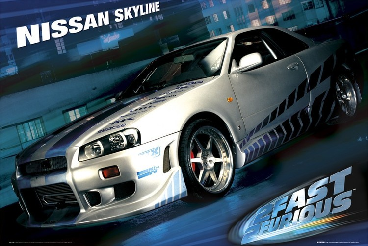 Juliste Fast and Furious – skyline