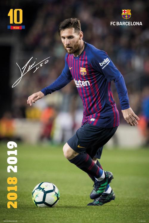 Juliste  FC Barcelona - Messi 2018-2019