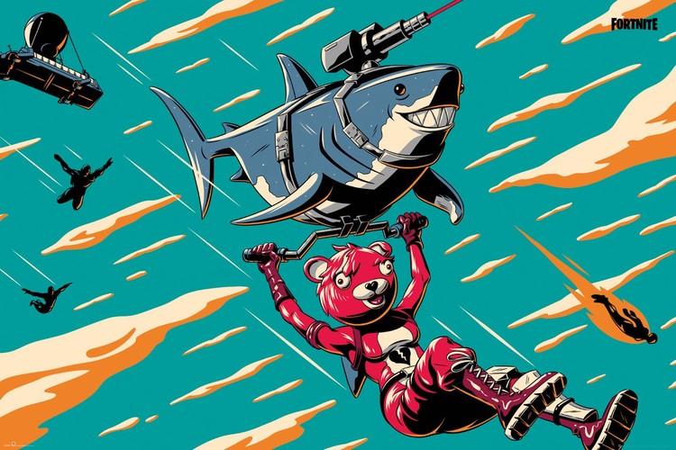 Juliste  Fortnite - Laser Shark