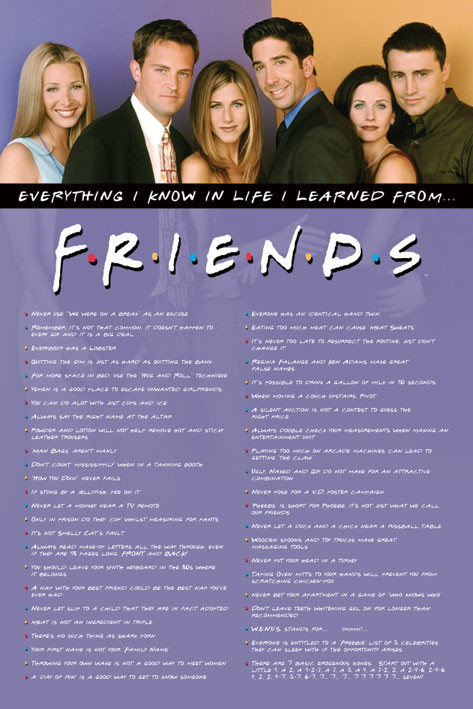 Juliste  Friends - Everything I Know