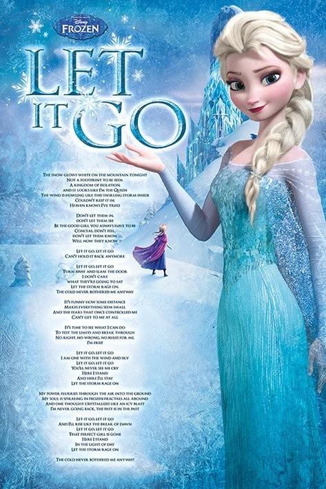 Juliste Frozen: huurteinen seikkailu - Let It Go