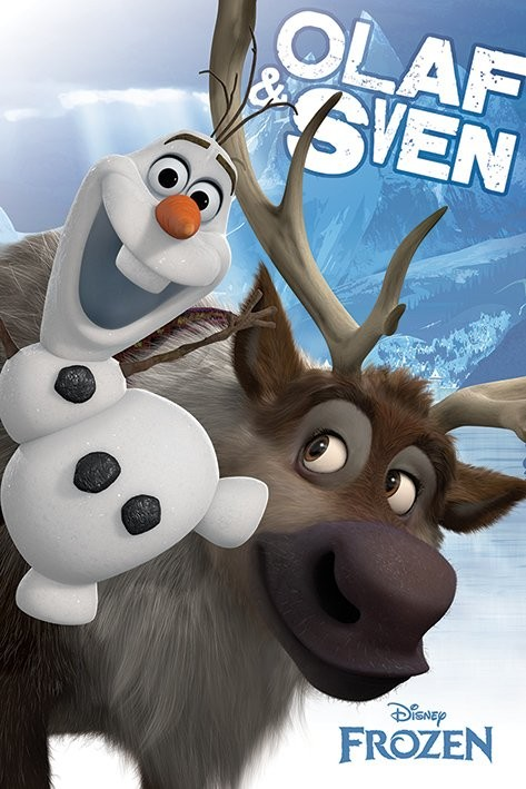 Juliste  Frozen: Huurteinen seikkailu - Olaf and Sven