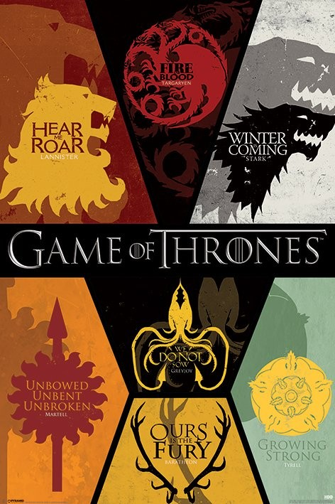 Juliste  GAME OF THRONES - sigils