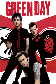 Juliste Green Day - Red