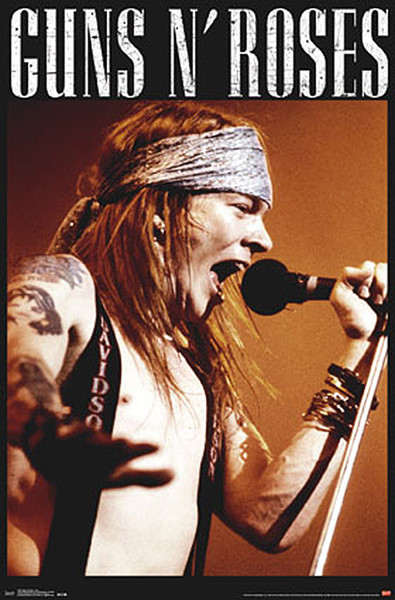 Juliste Guns N' Roses - Axl Rose live on stage