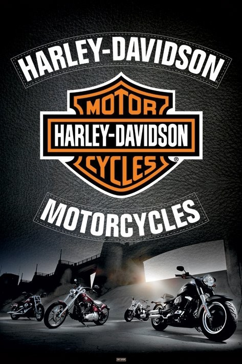 Juliste Harley Davidson - leather
