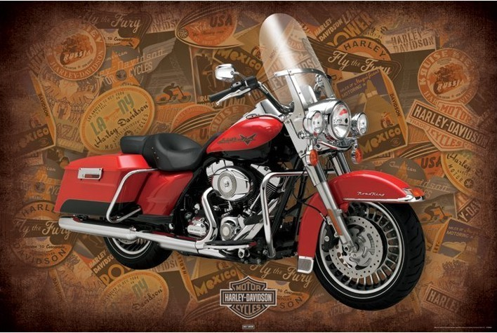 Juliste Harley Davidson - road king