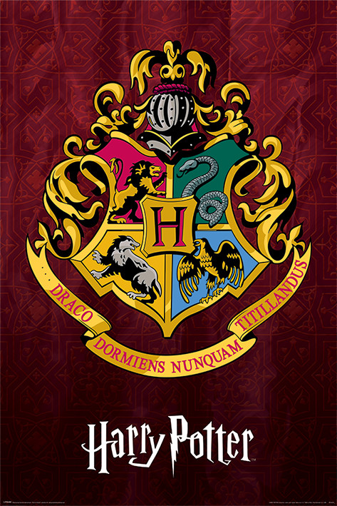 Juliste  Harry Potter - Hogwarts School Crest