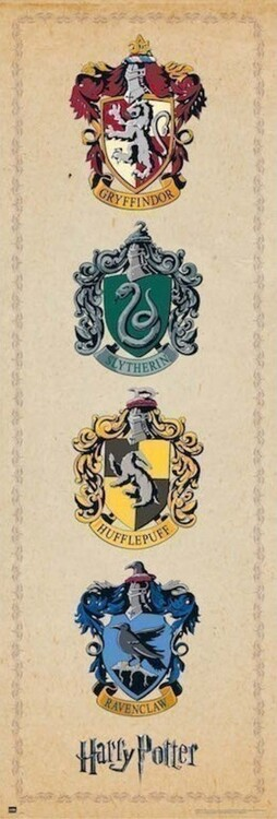 Juliste Harry Potter - House Crests