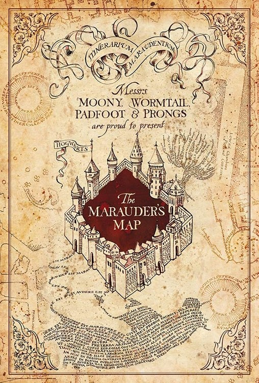Juliste  Harry Potter - Maurauder's Map