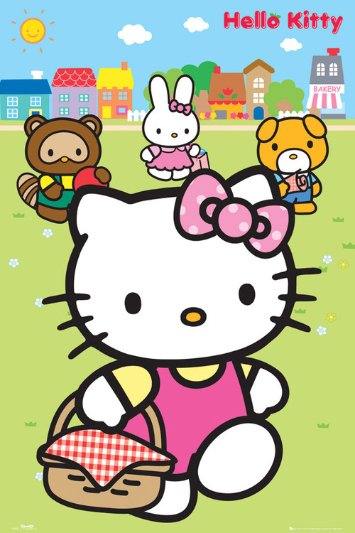 Juliste HELLO KITTY - picnic