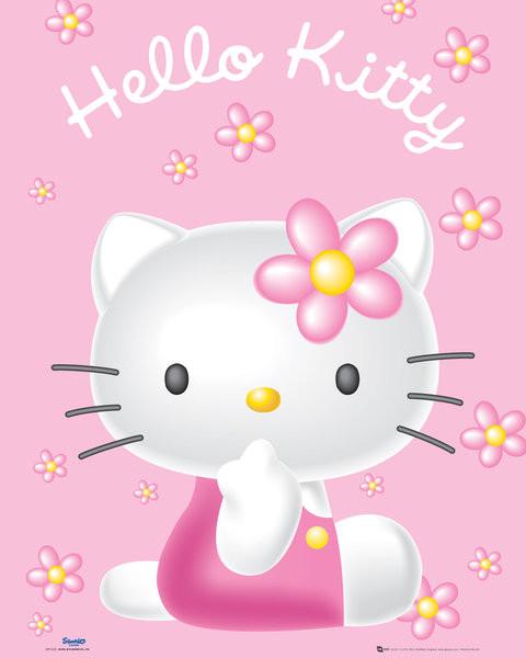 Juliste  Hello Kitty - Pink