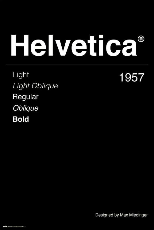 Juliste Helvetica