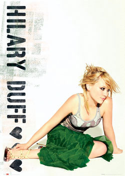 Juliste Hilary Duff - green skirt