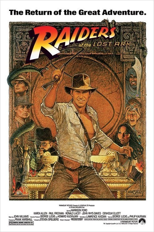 Juliste INDIANA JONES - raiders of the lost ark II.