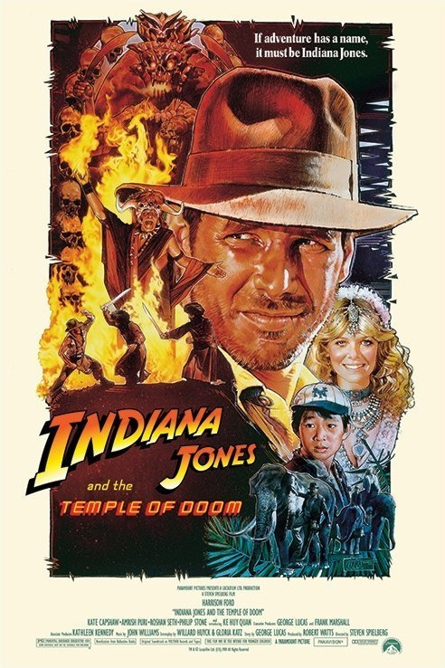 Juliste INDIANA JONES - temple of doom one sheet 2
