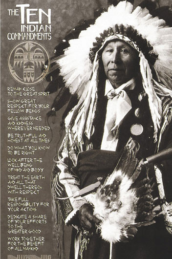 Juliste Indians - ten Indian commandments