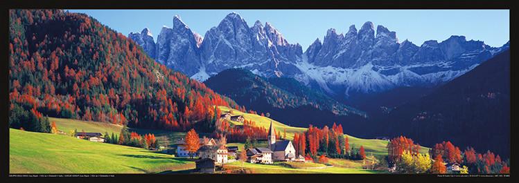 Juliste Italia - Dolomity, Saas Rigais na jaře