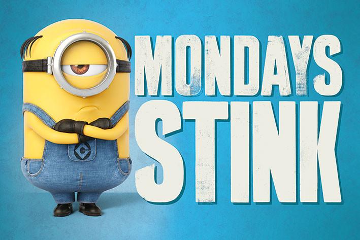 Juliste  Itse ilkimys (Despicable Me) 3 - Mondays stink
