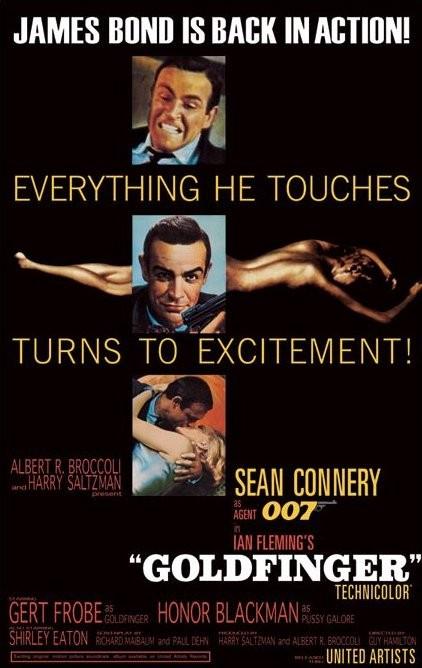 Juliste JAMES BOND 007 – goldfinfer-excitement