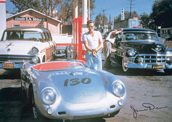 Juliste JAMES DEAN - Porshe
