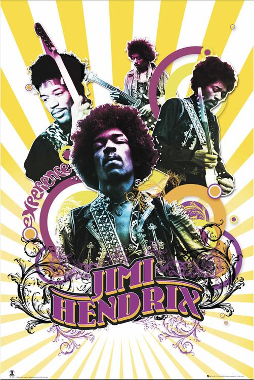 Juliste Jimi Hendrix - collage