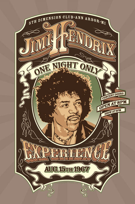 Juliste Jimi Hendrix - one night only