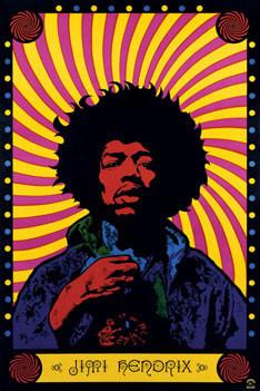 Juliste  Jimi Hendrix - psychedelic