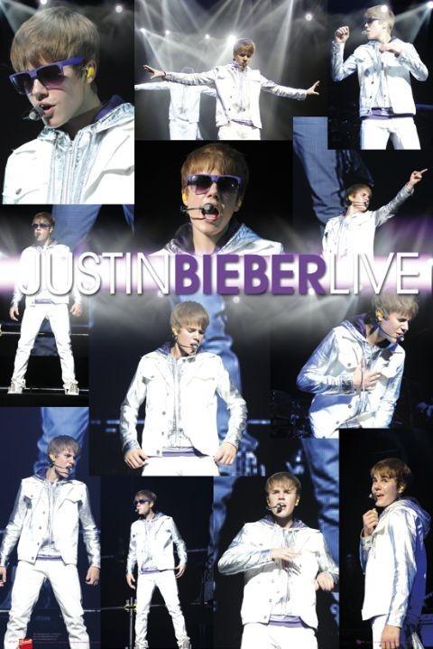 Juliste Justin Bieber - live