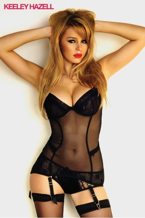 Juliste Keeley Hazelll - black lingerie