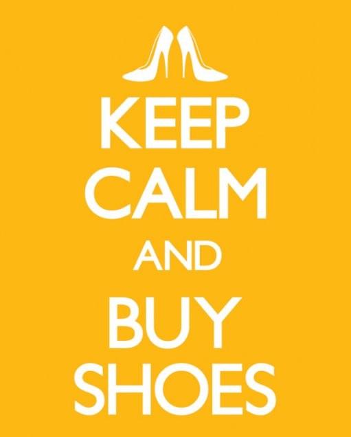 Juliste Keep calm & buy shoes