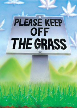 Juliste Keep of the grass