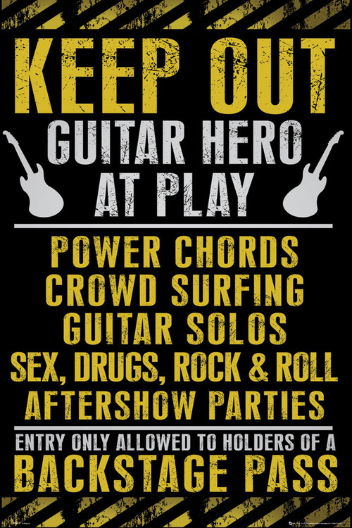 Juliste Keep out - guitar hero