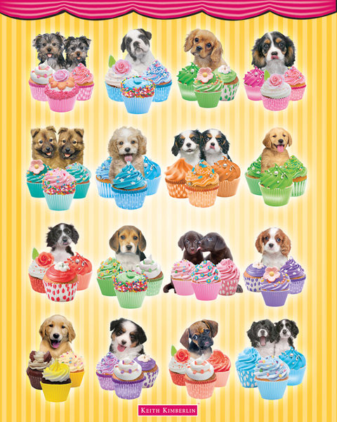 Juliste Keith Kimberlin - Puppies Cupcakes