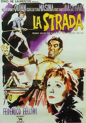Juliste LA STRADA - Anthony Quinn