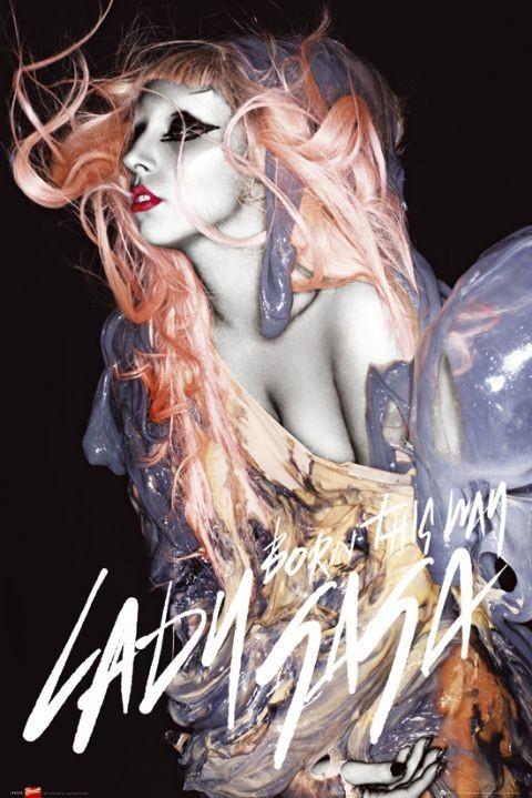 Juliste  Lady Gaga - gunge orange hair