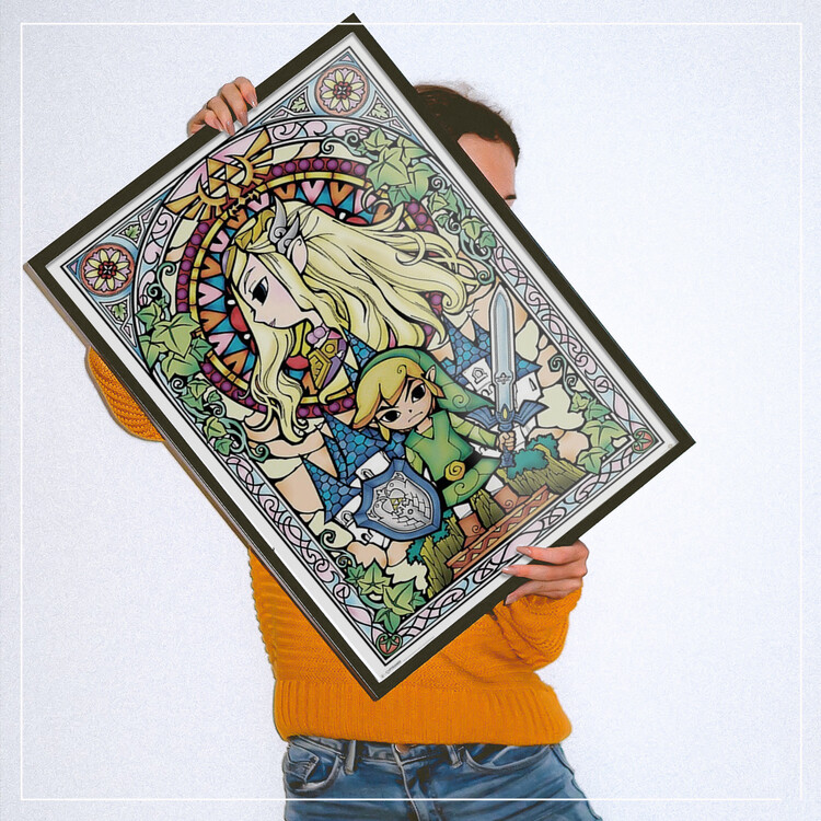Juliste Legend Of Zelda - Stained Glass