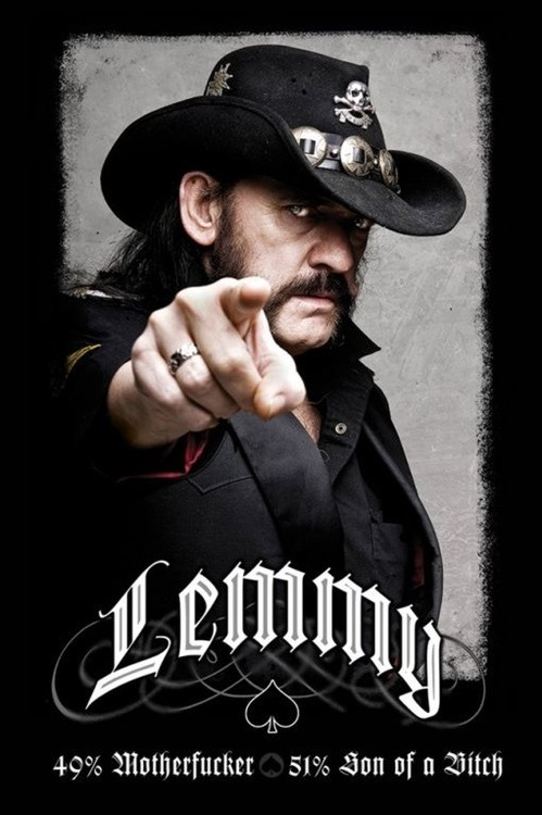 Juliste  Lemmy - 49% mofo