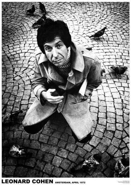 Juliste Leonard Cohen - Amsterdam 1972